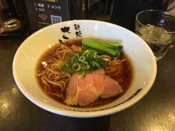 「あっさり細麺醤油」@麺処 さとう 桜新町店の写真
