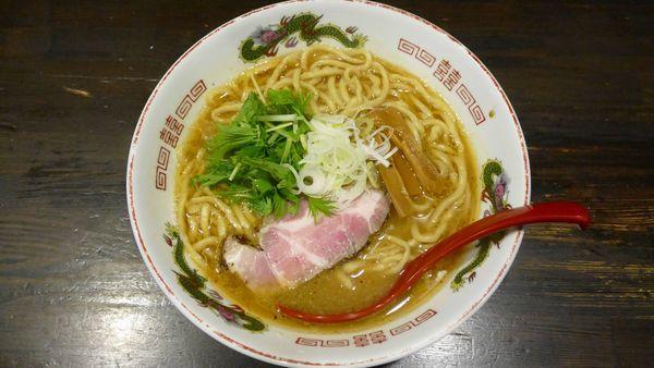 「濃厚魚介とんこつらーめん 太麺¥750/ご飯割り¥100」@製麺処 蔵木の写真