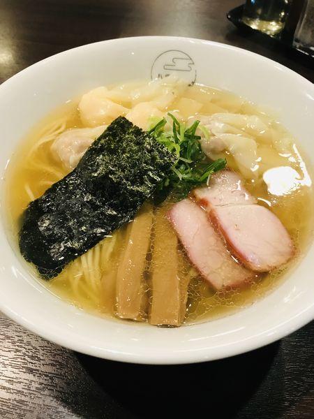 「特製ワンタン麺 白だしハーフ ¥1000」@八雲の写真