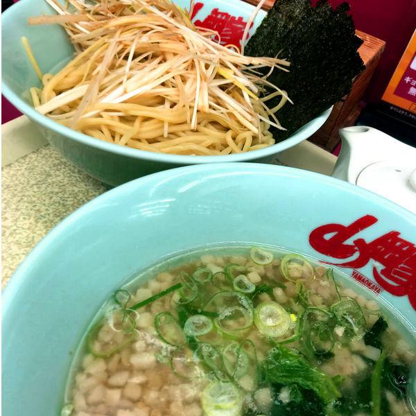 「醤油つけ麺 740円 味付ネギ」@ラーメン山岡家 足利店の写真