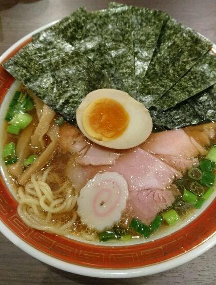 「チャーシューメン+海苔」@拉麺 いさりび 京成大久保店の写真