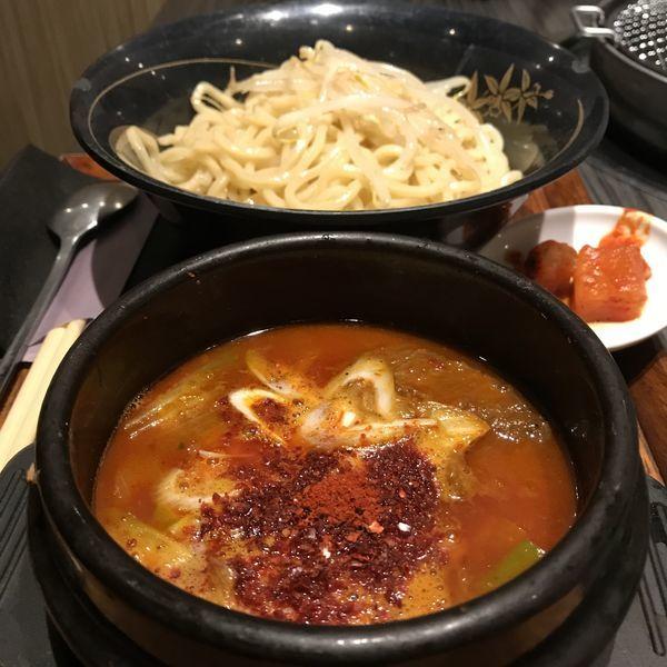 「鬼辛つけ麺(¥880)」@一頭買焼肉・本場韓国料理 醍醐 Luz大森店の写真