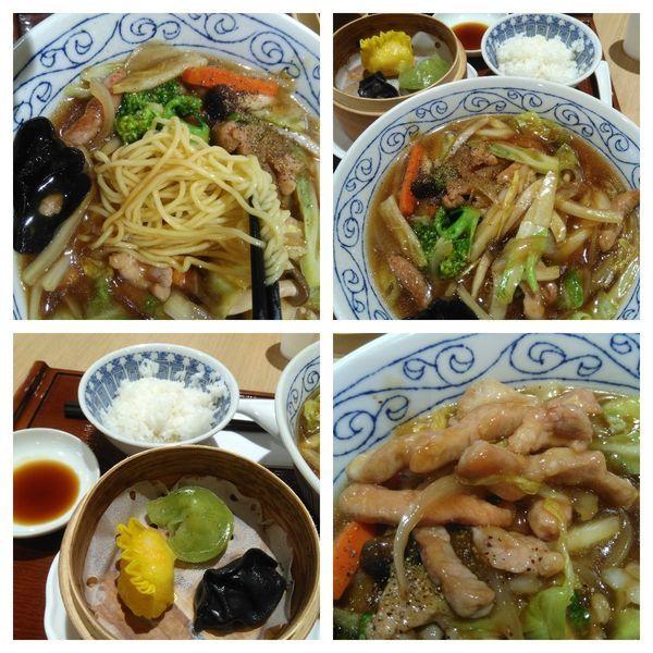 「肉五目あんかけそば+点心セット」@中華茗菜 裕宴の写真
