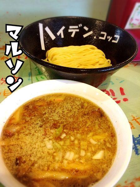 「魚貝豚つけ麺スパイシー¥750」@つけ麺屋 丸孫商店の写真