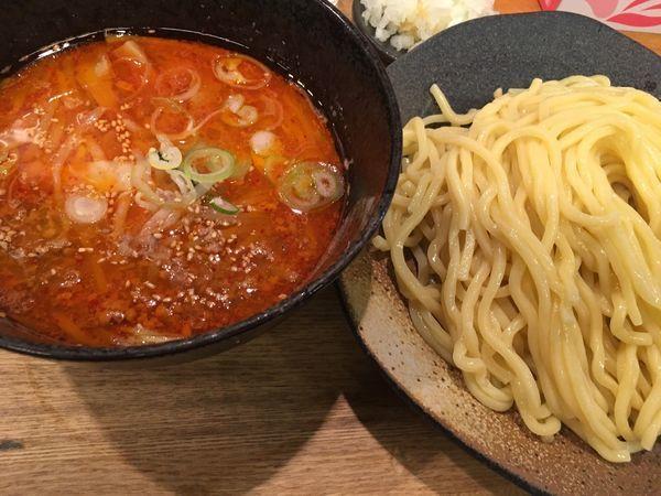 「辛味味噌つけ麺 大盛」@つけ麺屋 やすべえ 新宿店の写真
