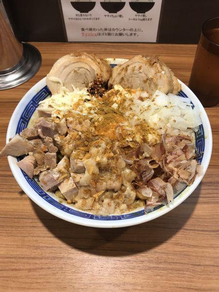 「汁なし(大) カレー 豚2枚」@びんびん豚の写真