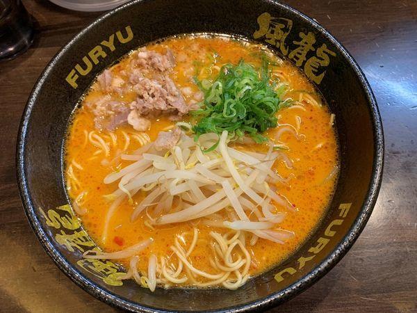 「辛味噌とんこつラーメン(無料替玉1玉)」@博多風龍 秋葉原昭和通り店の写真