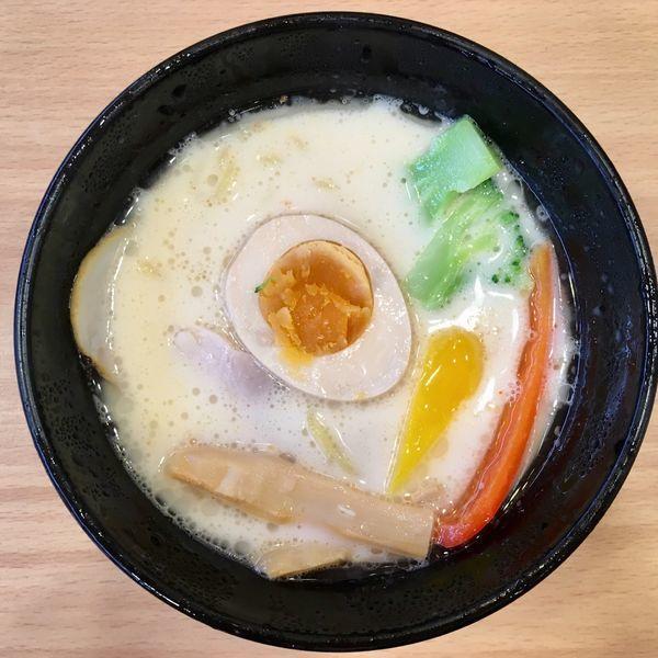「白いスープカレーラーメン ¥421」@かっぱ寿司 北新横浜店の写真