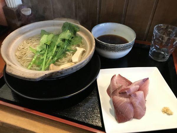 「天然ぶりシャブ釜揚げつけ麺」@麺創 なな家の写真