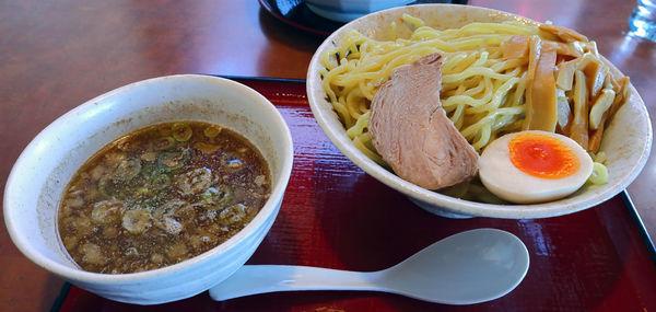 「魚介醤油つけ麺 大盛」@唐麺や十兵衛 花園店の写真