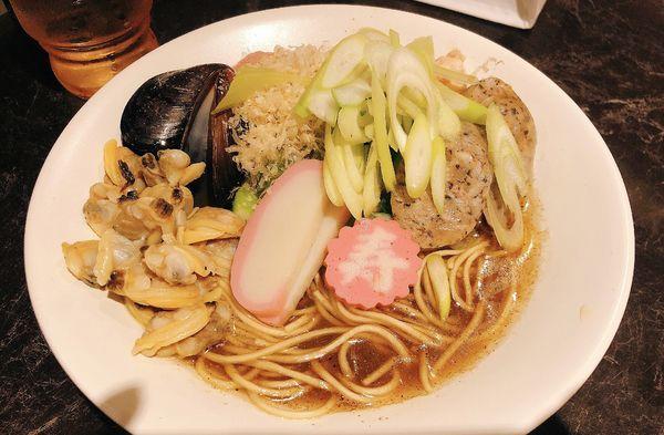 「【お正月限定】九条ネギと貝と煮干しの中華そば」@中華SOBA にぼ乃詩の写真