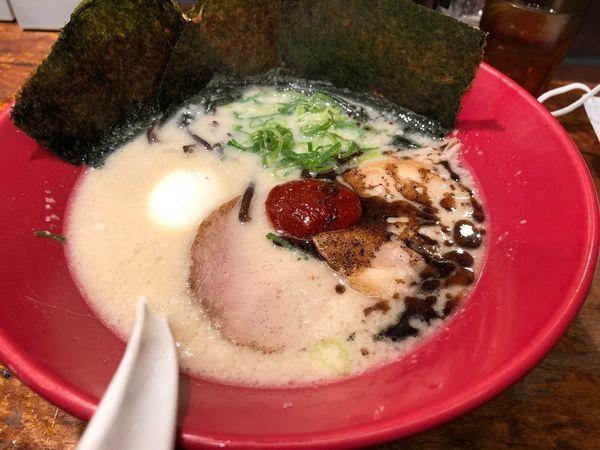 「のりたま赤丸+替玉+生ビール」@博多一風堂 駒沢公園店の写真