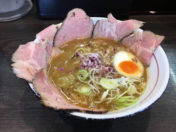 「TORI豚白湯チャーシュー麺950」@拉麺 水輝の写真