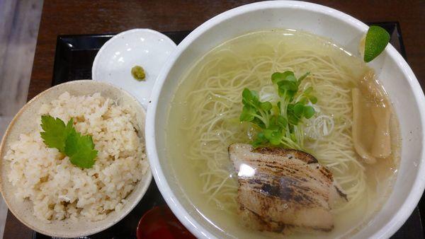 「鯛塩らーめん[細麺]鯛めしセット¥1,000」@塩伝説なゆたの写真