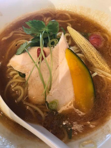 「鶏白湯味噌SOBA  辛味トッピング 1,030円」@銀座 篝 アトレ浦和店の写真