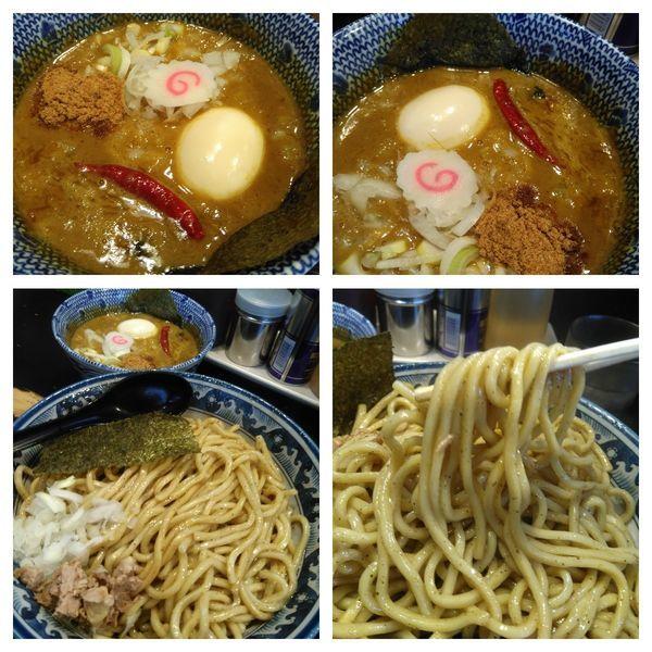 「和えつけ麺カレー(和え煮干し)特盛」@狼煙 〜NOROSHI〜の写真