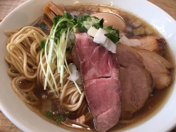 「Niboshi_soba pure 特製(1050円)」@The Noodles & Saloon Kiriyaの写真