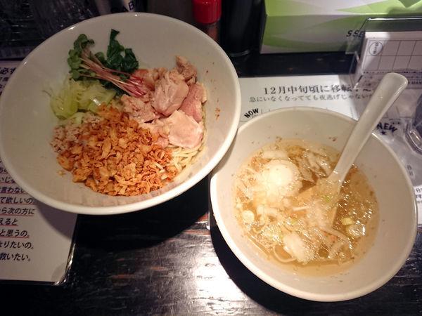 「限定 油そば+肉増し」@塩生姜らー麺専門店 MANNISHの写真