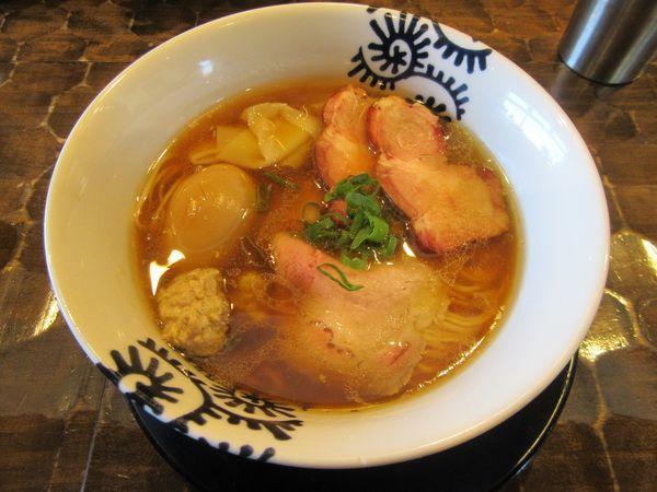 「限定 特級黒さつま鶏菊醤そば(1000円)+窯焼き」@特級鶏蕎麦 龍介の写真