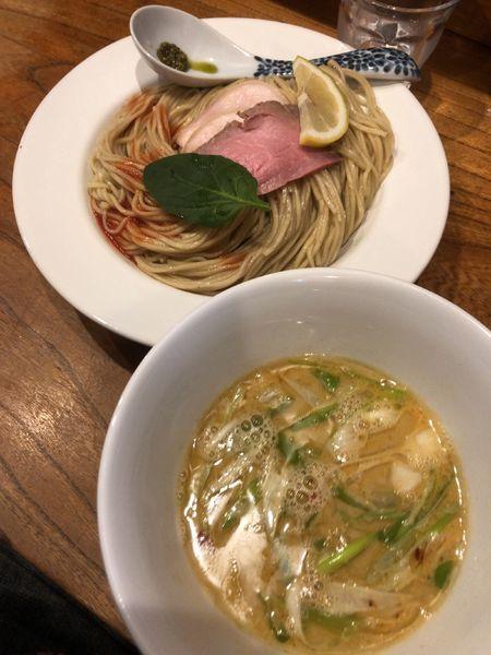 「【限定】クラブビスクつけ蕎麦」@中華そば 先崎の写真