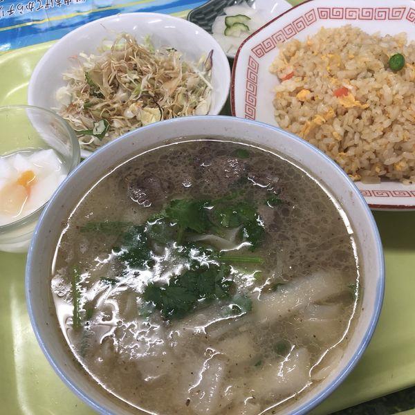「刀削麺+半チャーハンのセット」@中華第一麺の写真