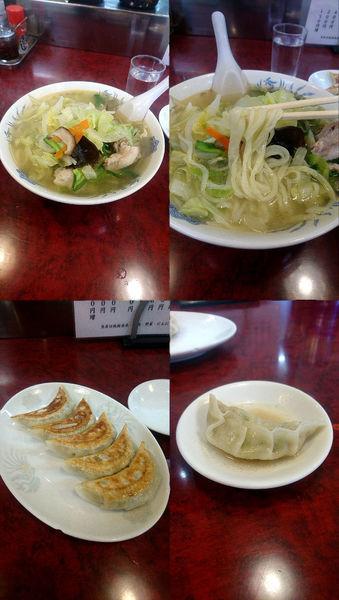 「『タンメン+餃子(¥800+400)』」@やまや食堂 分店の写真