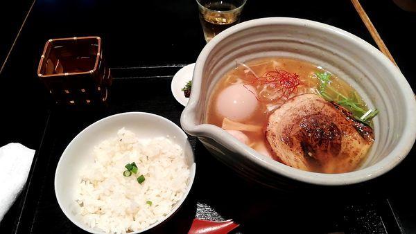 「銀笹ラーメン(白醤油)+半鯛飯」@麺処 銀笹の写真