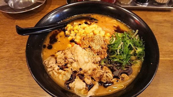 「信州極味噌 肉そば 820円」@権堂大衆酒場 吟屋の写真