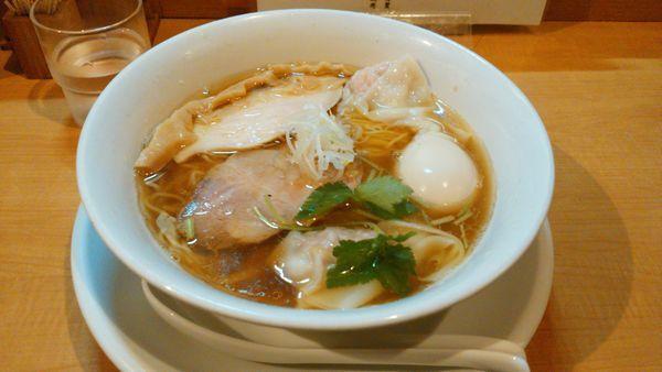 「特製重ね出汁醤油+ディナー丼」@中華そば 大井町 和渦の写真