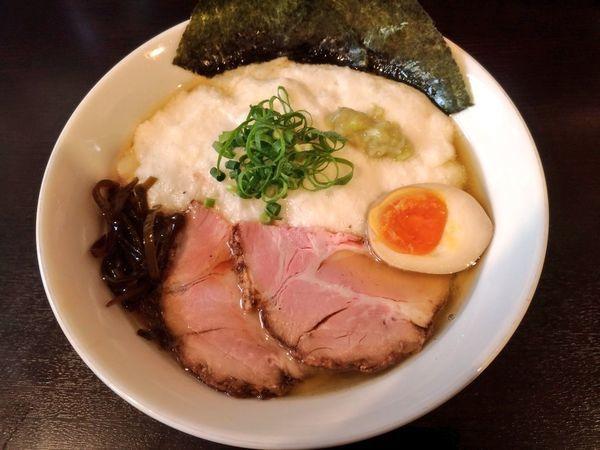 「きまぐれ限定 とろろ醤油そば」@麺屋 シロサキの写真