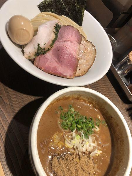 「特製豚骨魚介つけ麺+中盛」@つけ麺 一燈の写真