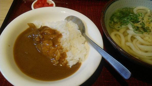 「Bセットうどん(小)カレー 450円」@うどんのおがわ屋の写真