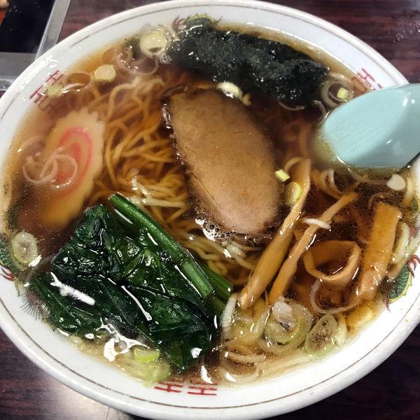 「手打ちラーメン 550円」@おおつき食堂の写真