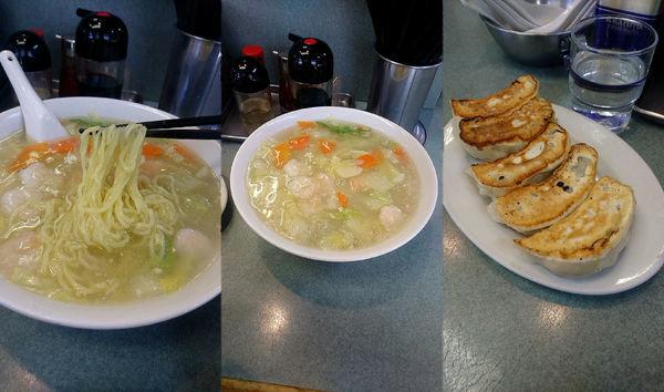 「『海老そば餃子セット(¥1050)』」@ガッツリ飯店 天極家の写真