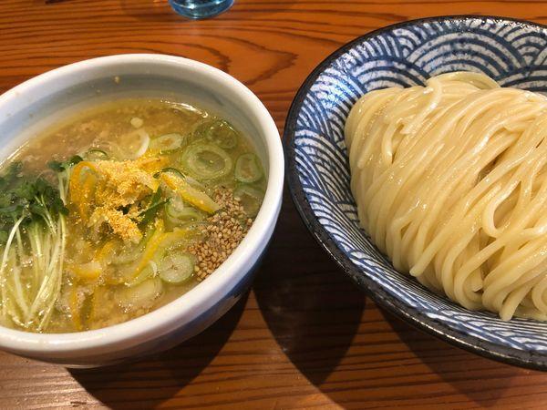 「つけそば柚子塩1000円」@麺 一直の写真