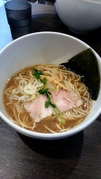 「牡蠣の煮干醤油(850円)」@中華そば 一信の写真