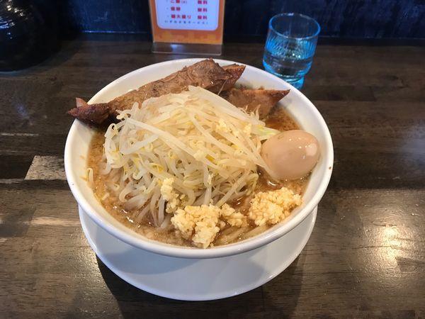 「二郎並 880円 煮卵かごはん無料」@麺屋 GOO ~noodle house~の写真