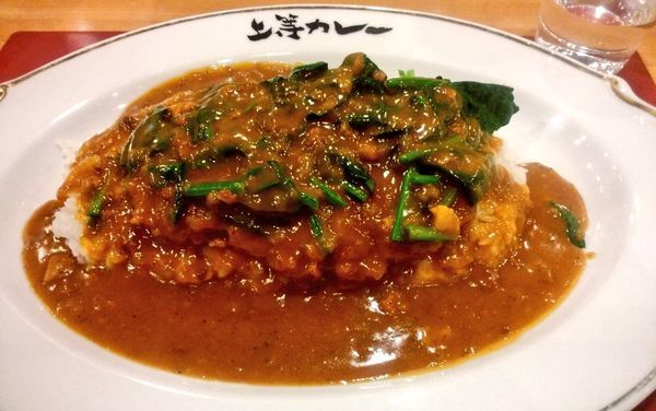 「とんかつカレー+ほうれん草」@上等カレー 横浜ポルタ店の写真