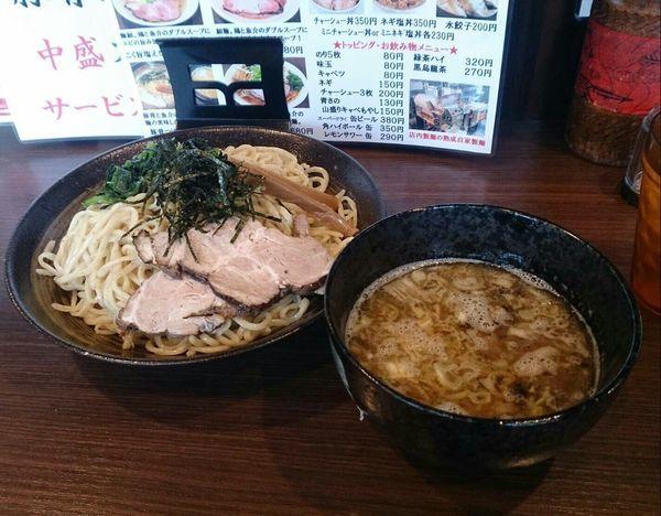 「豚骨つけ麺 冷盛り」@麺や かがのの写真