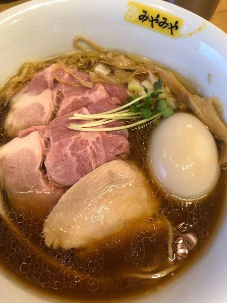 「味玉とりそば(正油)。850円。」@味噌ぶり noodle みやみやの写真