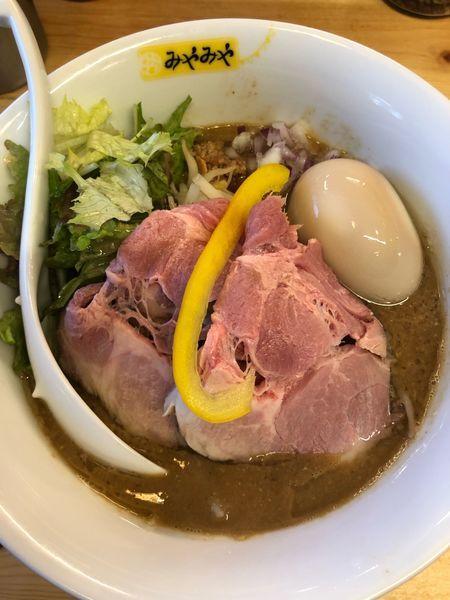 「味玉味噌そば。950円」@味噌ぶり noodle みやみやの写真