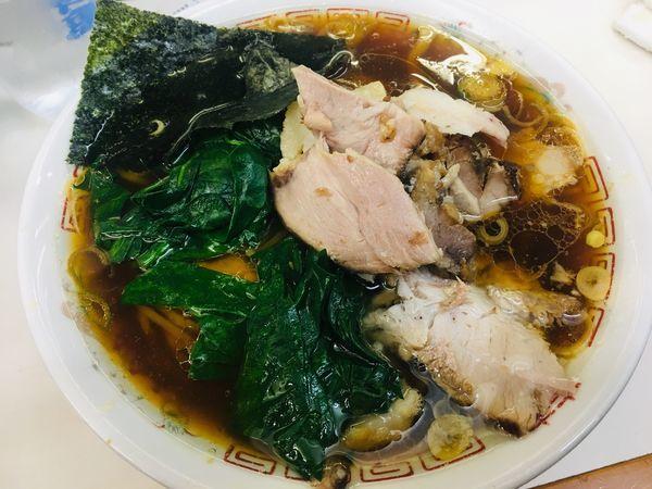 「青島チャーシュー+ほうれん草」@青島食堂 秋葉原店の写真