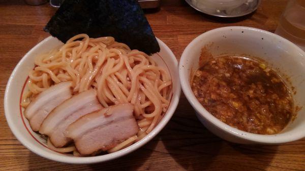 「和風醤油つけ麺大盛り、焼豚」@吉田製麺店の写真