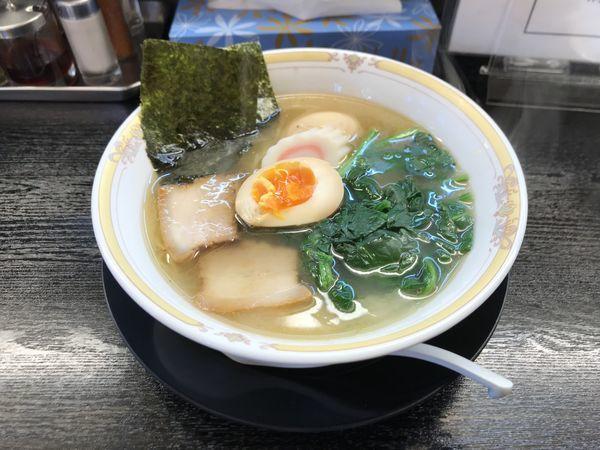 「冬色にぼし【細麺】」@たんめん らーめん 娘娘飯店の写真