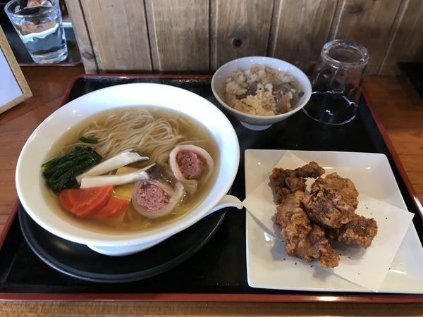 「まりえラーメン3【猪肉白菜ロールのせ】」@麺創 なな家の写真