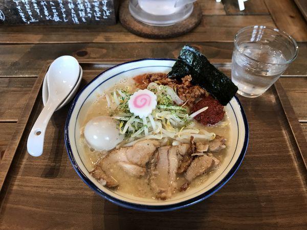 「二代目辛味噌そば【追い飯付】」@Omotenashi Noodles よこじの写真
