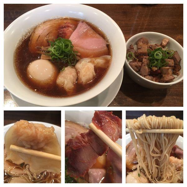 「特製醤油拉麺1100円、小さいチャーシューご飯150円」@創作麺工房 鳴龍の写真