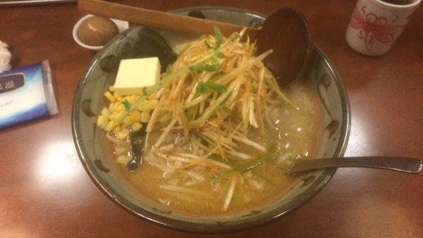 「味噌一ネギバター+味玉:990円」@味噌一 常盤台店の写真