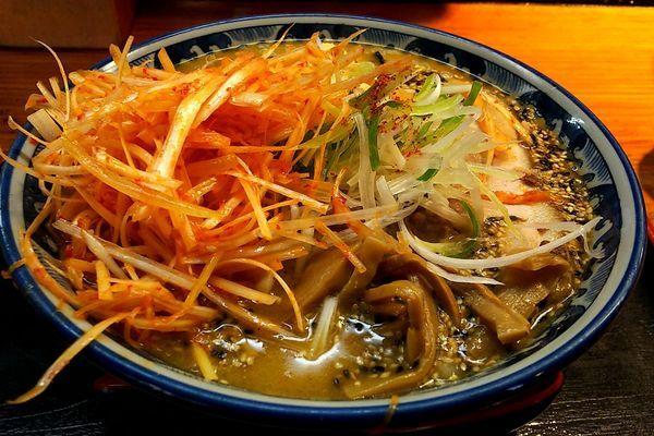 「もっけい生姜味噌(大盛) 辛ネギ」@麺場 もっけいの写真