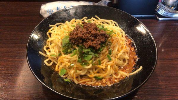 「汁なし坦坦麺 大盛+ミニ咖喱飯」@香噴噴 東京木場の写真